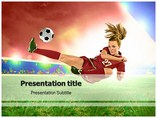 A Kick In Soccer Templates powerpoint templates