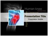 Human Knee Medical powerpoint templates