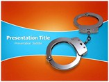Powerpoint Templates for Handcuff Key
