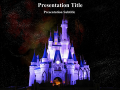 Disney Land At Night Animations powerpoint templates