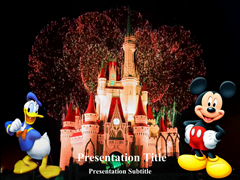 Firework At Disneyland Animations powerpoint templates
