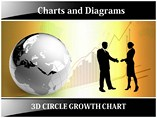 3D Circle Growth Chart PowerPoint Slides