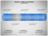 Project timeline process Charts & Data powerpoint templates