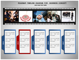 Roadmap Timeline Diagram For Business Concept Charts & Data powerpoint templates
