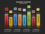 Business Diagrams Set Charts & Data powerpoint templates