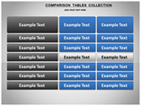 Comparison Tables Collection Charts & Data powerpoint templates