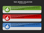 Text Boxes Collection Charts & Data powerpoint templates