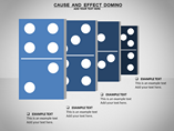 Cause and Effect Domino Charts & Data powerpoint templates