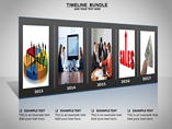 Timeline Bundle Charts & Data powerpoint templates
