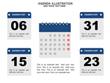 Agenda Illustration Charts & Data powerpoint templates