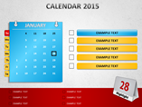 Calendar 2015 Corporate Charts & Data powerpoint templates
