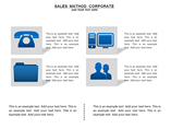 Sales Method Corporate Charts & Data powerpoint templates