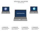 social media sales method Charts & Data powerpoint templates
