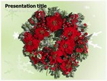 Christmas Flower Templates powerpoint templates