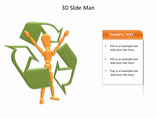 3D Slide Man PowerPoint Templates