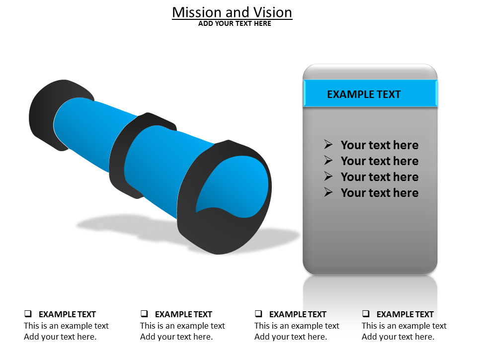 Mission and Vision Charts & Data powerpoint templates
