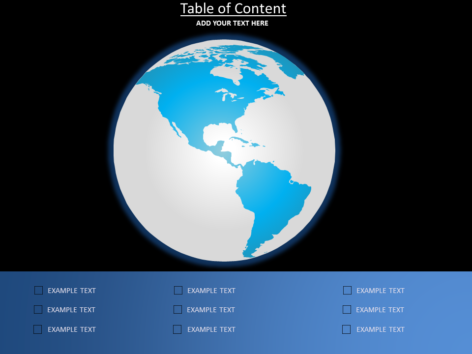 Table of Content Charts & Data powerpoint templates