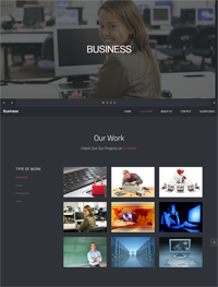 business our work web template Web Templates powerpoint templates