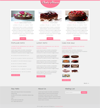 cake house web tempalte Web Templates powerpoint templates