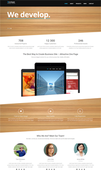 developer onepage web template Web Templates powerpoint templates