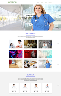 hospital web template Web Templates powerpoint templates