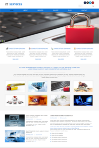 IT Service web template Web Templates powerpoint templates