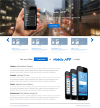 mobile app web template Web Templates powerpoint templates