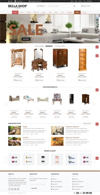 Furniture web template Web Templates powerpoint templates