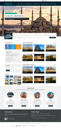 travel agency web template Web Templates powerpoint templates