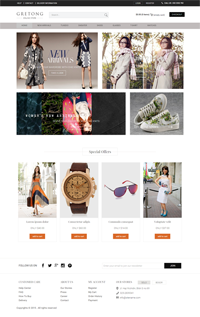 fashion online store web template Web Templates powerpoint templates