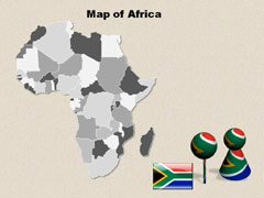 Africa PowerPoint map