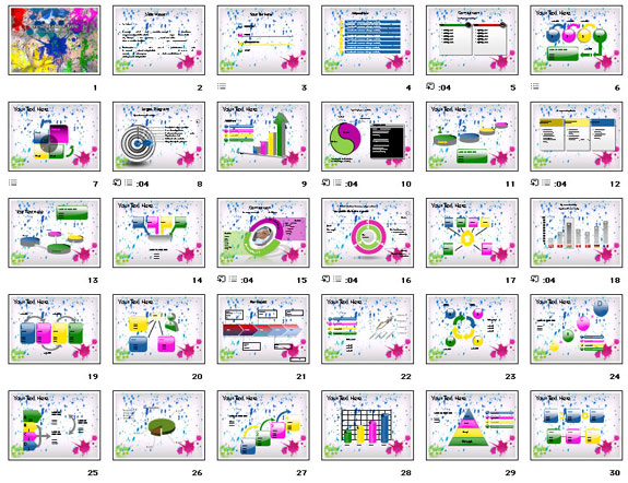 PPT Templates on Holi