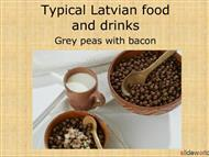 typical latvian food and drinks  powerpoint presentation