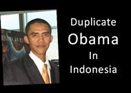 Duplicate Obama In Indonesia powerpoint presentation