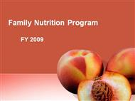Family Nutrition Program powerpoint presentation