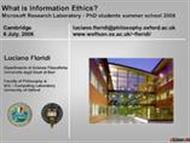 What is Information Ethics powerpoint presentation