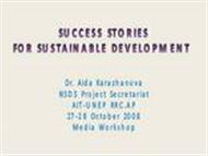 Success Stories For Sustainable Development by Dr. Aida Karazhanova powerpoint presentation