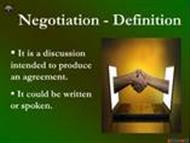Negotiation - Task 1625 powerpoint presentation
