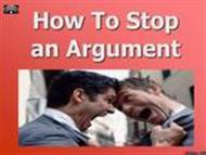 How to Stop an Argument powerpoint presentation