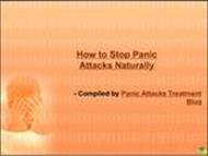 How to Stop Panic Attacks Naturally powerpoint presentation