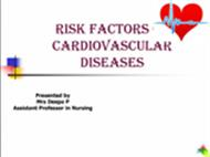 RISK FACTORS OF CARDIOVASCULAR DISEASES powerpoint presentation