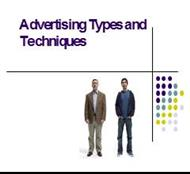 Advertising Types and Techniques powerpoint presentation