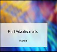 Print Advertisements powerpoint presentation