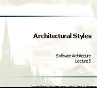 Architectural StylesArchitectural Styles powerpoint presentation