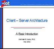Client – Server Architecture powerpoint presentation