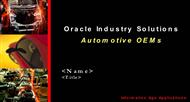 Oracle Industry Solutions  Automotive OEMs powerpoint presentation