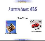 Automotive Sensors : Mems powerpoint presentation
