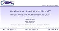De Constant Speed Power Take Off powerpoint presentation