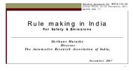 Rule making in India For Safety & Emissions powerpoint presentation