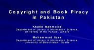 Copyright and Book Piracy in Pakistan powerpoint presentation